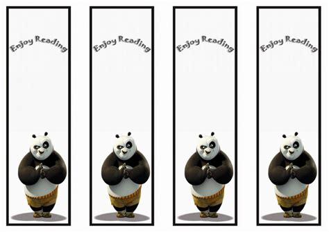 printable panda bookmark kung fu panda bookmarks birthday printable