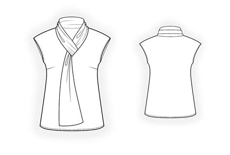 pattern making shirt collar blouse with tie collar sewing pattern 4075 made to