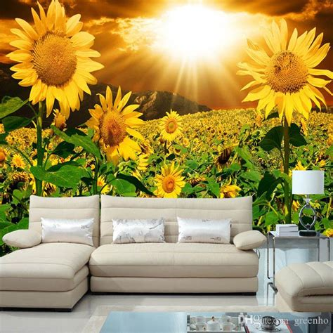 Beautiful Wallpaper Design For Home Decor by Beautiful Sunflower Photo Wallpaper Wall