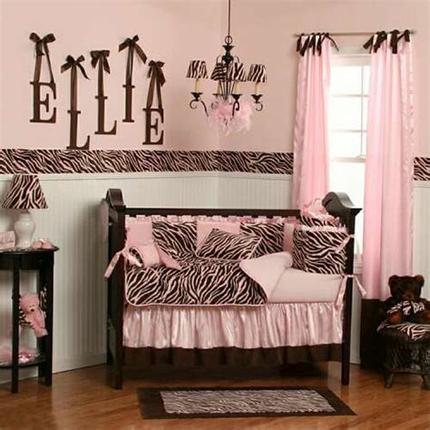 Pink And Brown Nursery Decor Zebra Bedding Zebra Crib Bedding