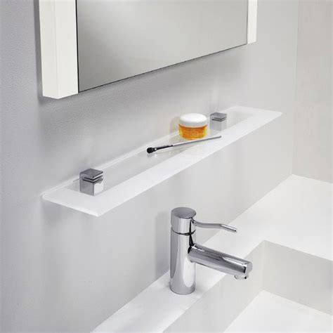 frosted glass shelf bathroom glass shelf for bathroom polished chrome with frosted