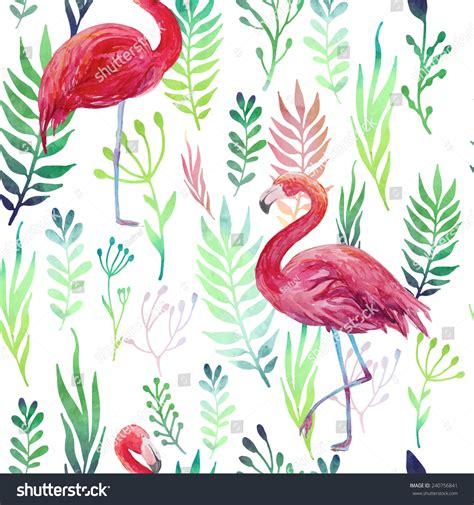 watercolor flamingos pattern vector free download tropical seamless pattern flamingos repeating texture