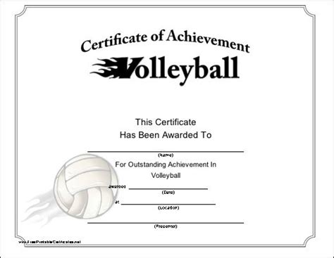 printable volleyball certificates of achievement 30 best images about awards certificates on pinterest