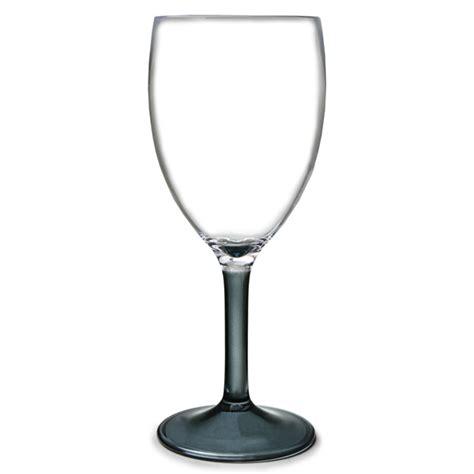 Plastic Wine Glasses Flamefield Acrylic Wine Glasses Black Stem 10oz 290ml