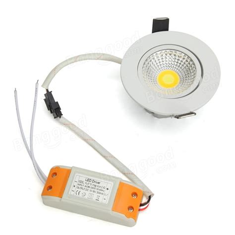 6w dimmable cob led recessed ceiling light fixture remote