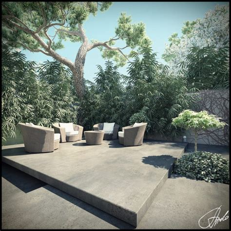 relaxing outdoor space of a house on balaclava road garden landscape design inspiration