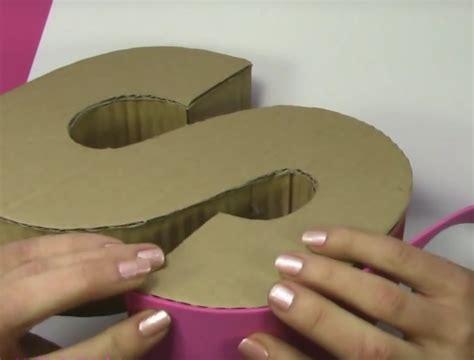 decoracion de letras en carton 3d letras en 3d hechas en cart 243 n para decorar