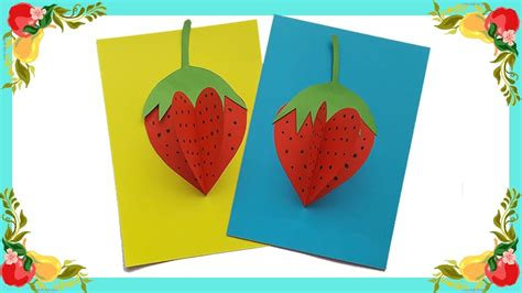 How To Make Paper Handicraft - how to make 3d paper strawberry so for craft