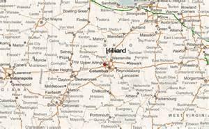 Hilliard Ohio Map by Hilliard Location Guide