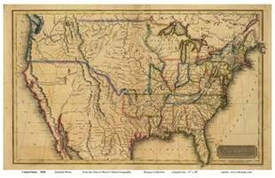 early maps us map from early 1800 s