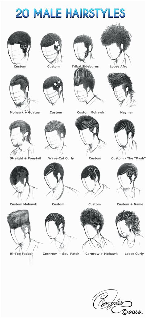 pencil drawing of hair styles of men 20 male hairstyles by gunzy1 on deviantart