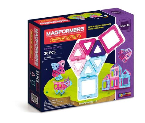magformers 30 set magformers inspire set 30 pieces toys