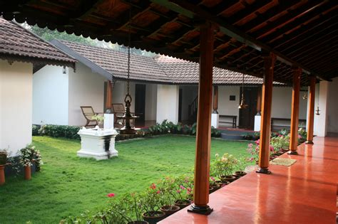 traditional kerala home interiors heritage homestead harivihar brick red burrow