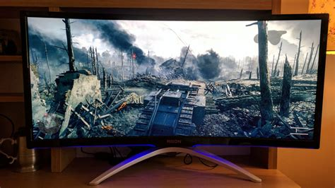 best widescreen monitor for gaming aoc agon ag352ucg gaming monitor review techradar