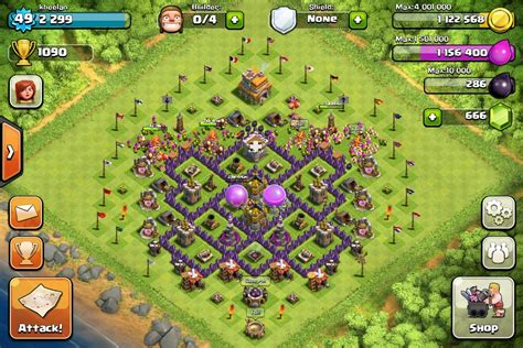 clash of clans strategy level 7 farming base design town hall best farming layout town hall lvl 7 google search