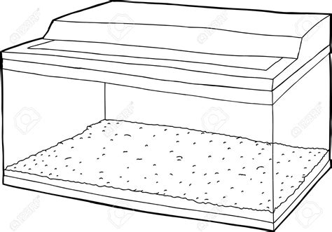 coloring page fish tank empty aquarium coloring pages coloring page