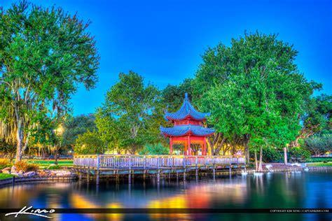 park orlando lake eola park pagoda orlando florida
