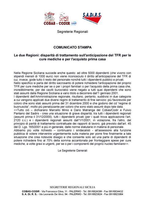 Richiesta Tfr Per Acquisto Prima Casa by Tfr E Buonuscita Sindacando Il Di Benedetto Mineo