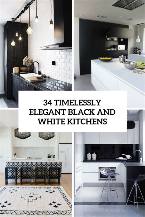 kitchen ideas black and white 34 timelessly black and white kitchens digsdigs
