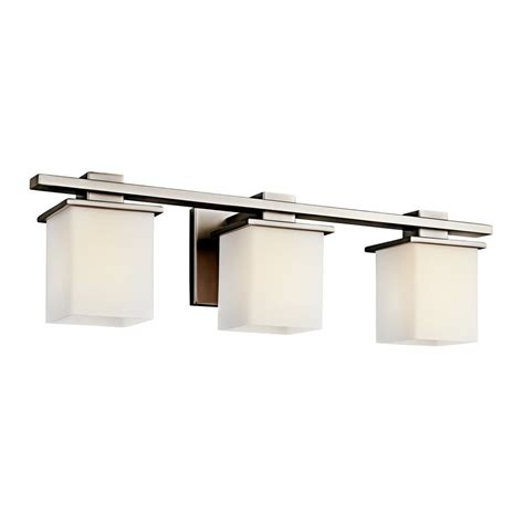 Square Bathroom Light Shop Kichler Tully 3 Light 6 5 In Antique Pewter Square Vanity Light At Lowes