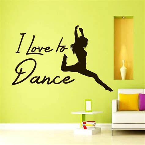 dancer wall stickers free shipping diy i to quote dancer wall decals vinyl sticker home decor wallpaper