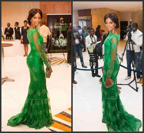 styles for nigeria long wevon style 2015 new style red carpet miss nigeria mermaid long