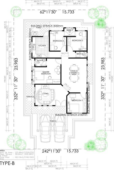 layout rumah 4 bilik pelan lantai rumah 1 tingkat 5 bilik joy studio design
