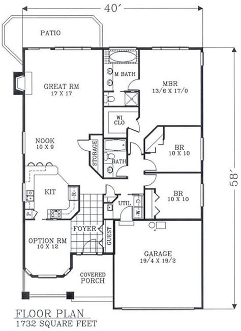 floor plans for bungalows with basement bungalow house plans with basement best of 1732 sf no