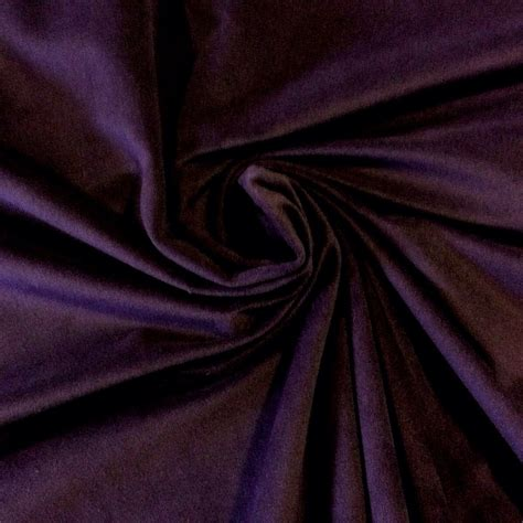 drapery material royal purple aubergine velvet very soft weight cotton