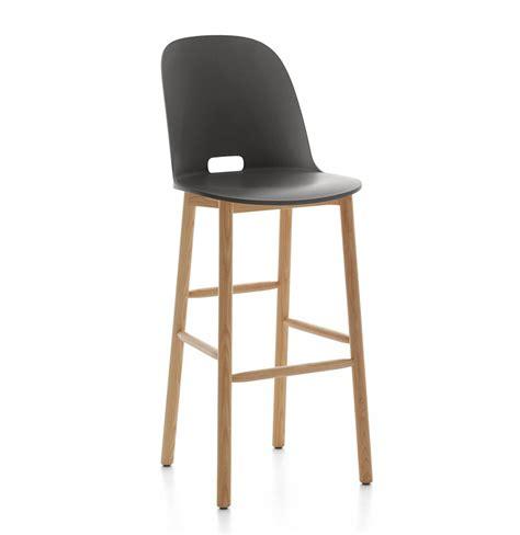 emeco sedie emeco alfi barstool high back sgabello con schienale alto