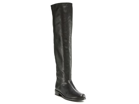 stuart weitzman backtalk flat boots in black lyst