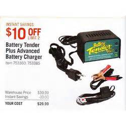 Costco Car Battery Deals Battery Tender Plus Advanced Battery Charger At Costco