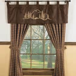 rustic valances valance window treatments shop everything log homes