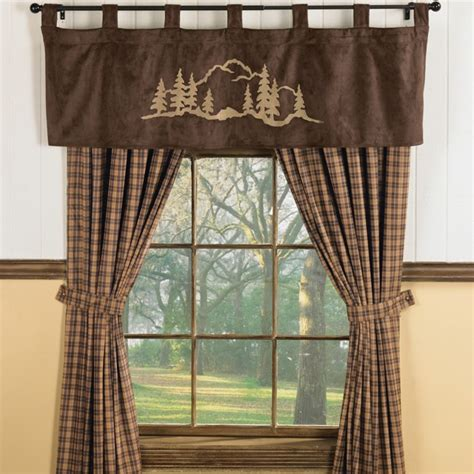 rustic curtains cabin window treatments valance window treatments shop everything log homes