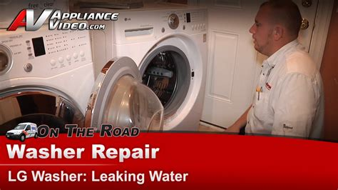 Front Load Washer Leaking From Door Lg Wm2101hw Washer Repair Leaking Water Gasket Appliance