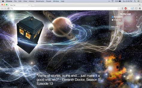 google themes doctor who doctor who tab chrome web store
