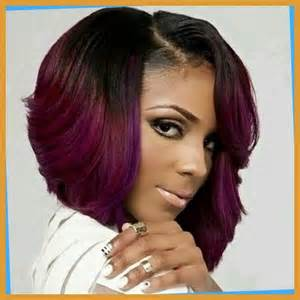 5 cute african american layered purple bob haircut