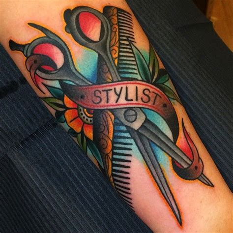 hairstylist tattoo designs best 25 hairdressing tattoos ideas on