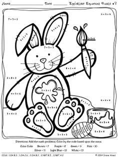 easter coloring pages for 2nd grade your students will practicing addition and
