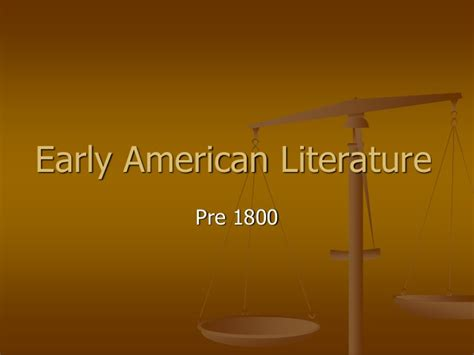 early literature early american literature pre 1800 1