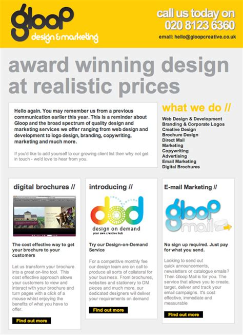 design html email newsletter 20 great email newsletter designs for business