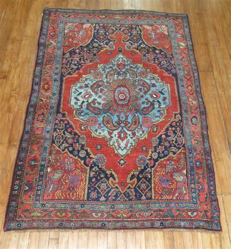 vintage rugs for sale pictorial antique bidjar rug for sale at 1stdibs
