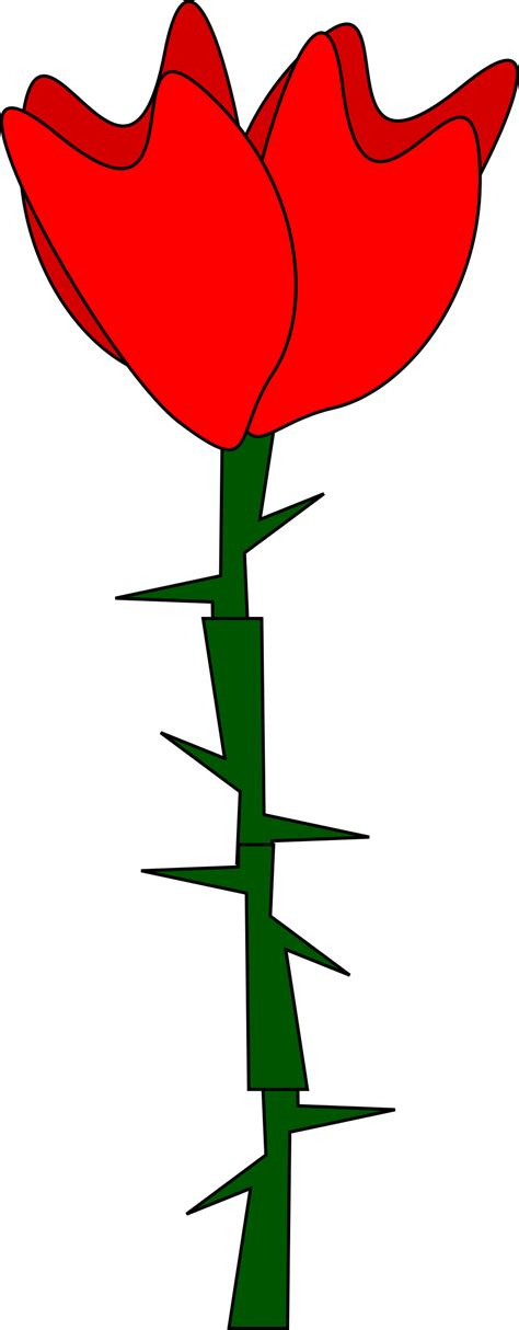 Drawing Clipart by Flowers And Thorns Clipart Clipground