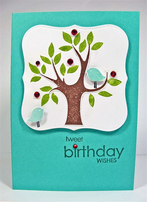 Handmade Card Birthday - handmade birthday card arbor day inspired kitchen