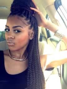 box plaits hairstyles me big box braids protective styles pinterest big