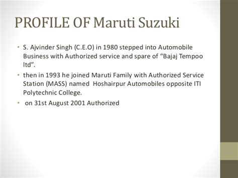 Mba In Maruti Suzuki by Project Report On Working Capital Management