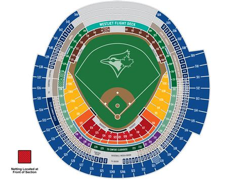 Rogers Center Floor Plan by Blue Jays Seating Map Mlb Com