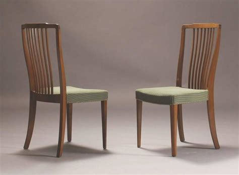 set of six modern spindle back dining chairs at 1stdibs