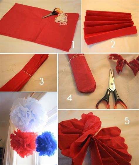 How To Make Paper Pom Pom Decorations - how to make crepe paper pom poms diy decorations
