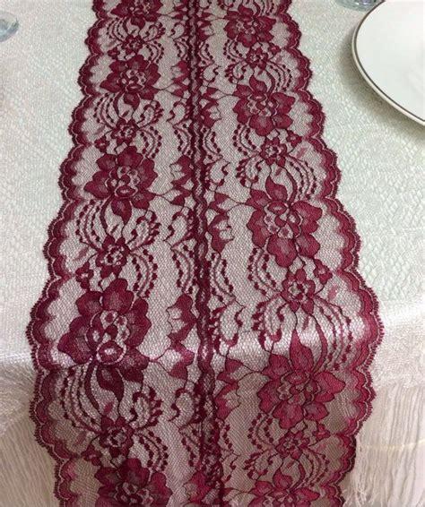 burgundy lace table runner 5ft burgundy wine lace table runner wedding table runner